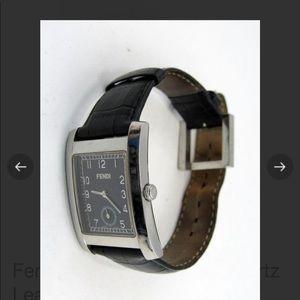 Fendi Swiss 15 Jewel Leather Watch beautiful